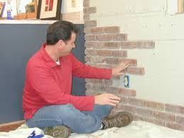 Fake Exposed Brick Wall How To Install Interior Brick Veneer How Tos Diy