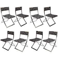 folding dining chairs set of eight stainless steel folding dining chairs luisa by marcello