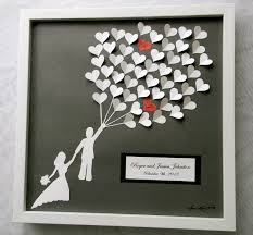wedding gift book wedding guest book alternative 3d paper hearts lovely bridal