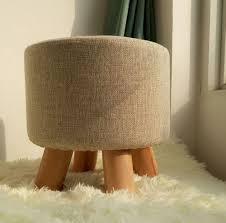 Wooden Ottomans Wooden Ottoman Stool Fabric Sofa Stool Footstool Detachable