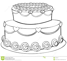 wedding cake outline cake outline illustration 20699647 megapixl
