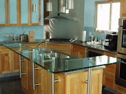 glass top kitchen island raised glass countertop for a kitchen island custom