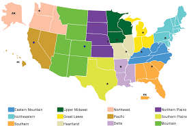 United States Map By Region by Usda National Agricultural Statistics Service Regional Field
