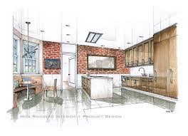 hand rendering mick ricereto interior product design