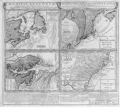 Colonial America 1776 Map by Nova Scotia History Index