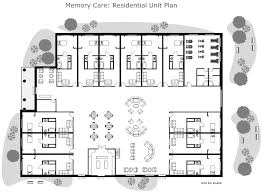 Assisted Living Facility Floor Plans Greenery Insp Memory Care Institutional Design Pinterest