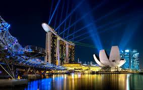 Bay Bridge Light Show Marina Bay Sands And The Helix Bridge To See A