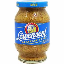 lowensenf mustard lowensenf bavarian sweet mustard 10 oz 250g