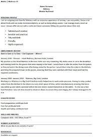 waitressing cover letter waiter resume template waiter resumes cover letter professional