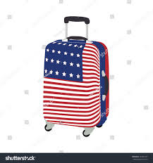 United Luggage by Luggage Usa Flag Raster Icon Isolated Stock Illustration 322401797