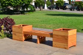 bench and planters combo built to last decades forever redwood