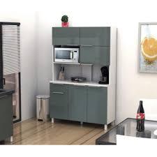 buffet de cuisine gris lova buffet de cuisine 120 cm gris haute brillance achat vente