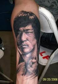 free tattoo designs bruce lee tattoo design on the arm