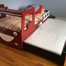 Twin Bed With Pull Out Bed Best Fire Truck Twin Bed With A Second Pull Out Twin Bed On The