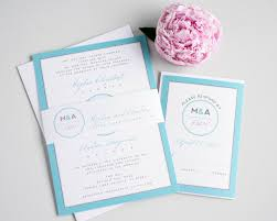 exles of wedding programs modern blue wedding invites with a circle monogram wedding
