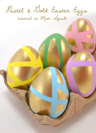 gold easter eggs pastel gold easter eggs tutorial spark