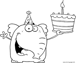 happy birthday coloring pages free download printable