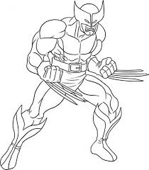 wolverine coloring pages coloringeast