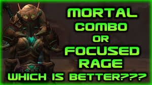 Bajheera Legion Arms Warrior Talent Guide Pve Pvp Legion Which Is Better Mortal Combo Vs Focused Rage Arms