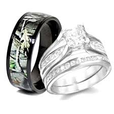 his and camo wedding rings sterling silver camo wedding ring set ipunya
