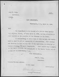 file letter from john d long secretary of the navy to private