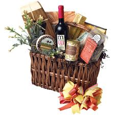 wine and cheese basket baskets with an attitude wine goodie arrangements