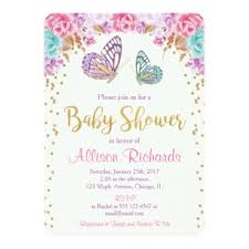 butterfly baby shower pink purple butterfly baby shower invitations zazzle