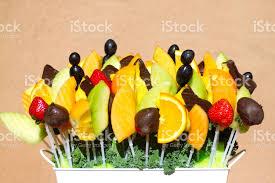 edible fruit basket beautiful edible fruit basket stock photo more pictures of