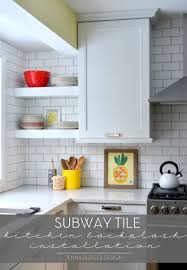 installing subway tile backsplash in kitchen collage subway style tile backsplash kitchen installation jenna