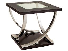 Standard End Table Height by Standard Furniture Melrose Square End Table With Glass Table Top