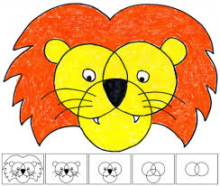 simple drawing designs for kids how to draw a lion art projects