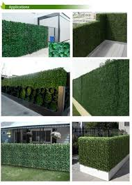 Fake Grass Mats Patio Sgs Uv Protected Artificial Boxwood Mat 25cmx25cm Synthetic Hedges
