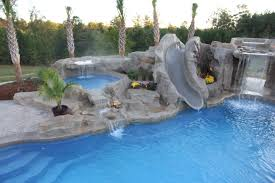 home decor waterfalls pool waterfall and slide pools awesome swimming with pictures
