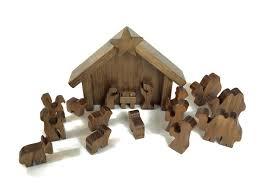 wooden nativity set amish made 14 wooden nativity manger set amishtoybox