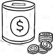 coin bank and coins with dollar sign stock vector art 526537159