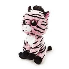 details ty beanie boos roxie pink purple raccoon plush