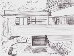images of falling water sketch by sc