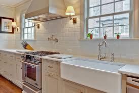 classic kitchen backsplash classic kitchen backsplash in white railing stairs and kitchen