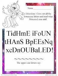 free worksheet my little pony upper and lowercase letters