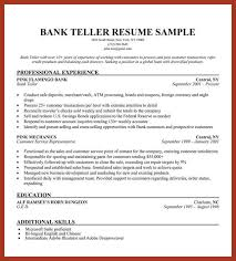 Sample Resume For Bank Teller by Bank Teller Job Resume Sample Banking Resume Examples Are Helpful