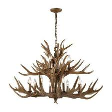 Antler Chandelier Home Depot Antler Chandeliers Hanging Lights The Home Depot