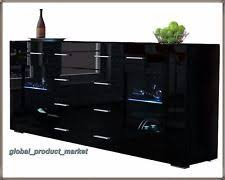 Black Gloss Sideboards Black Contemporary Sideboards With Flat Pack Ebay