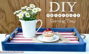 diy tray diy patriotic serving tray beneath my heart