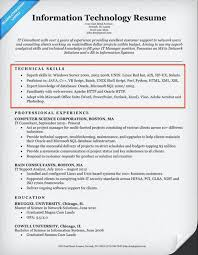 resume information technology manager exle of technical skills it resume 795 contemporary captures