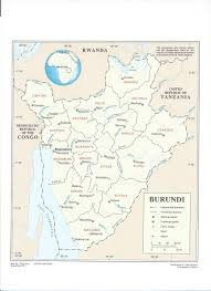 Burundi Africa Map by South Africa Tutawaza