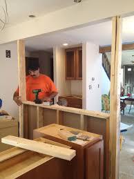 half wall kitchen designs the big kitchen renovation u2013 charmed by wine