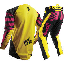 black motocross gear thor 2017 mx new fuse air dazz magenta yellow black motocross gear