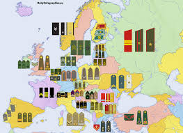 European Map by European Map Of Military Ranks Daily Infographics