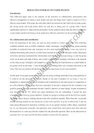 sample of reflective writing essay