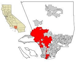 Map Of Los Angeles California by File La County Incorporated Areas Los Angeles Highlighted Svg